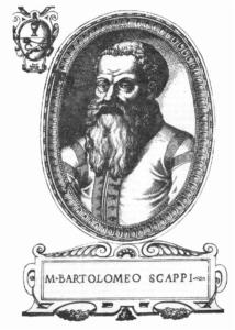 Bartolomeo Scappi (ca. 1500-ca. 1570). Titelblad van de Opera (1570).