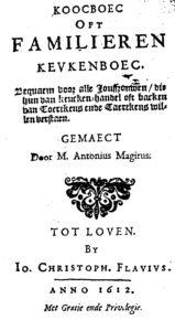 Antonius Magirus, Koocboec editie 1612