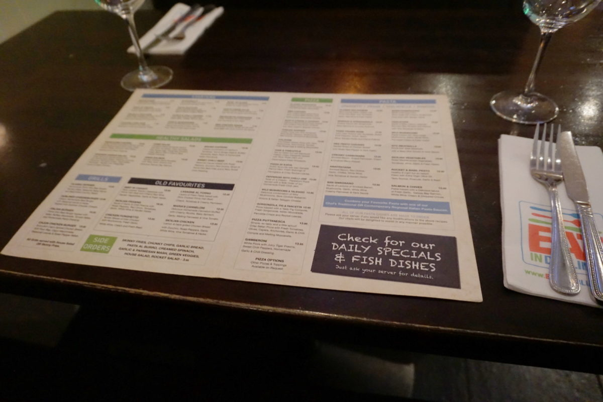 An Archive of Menus Shows Dubliners' Changing Tastes